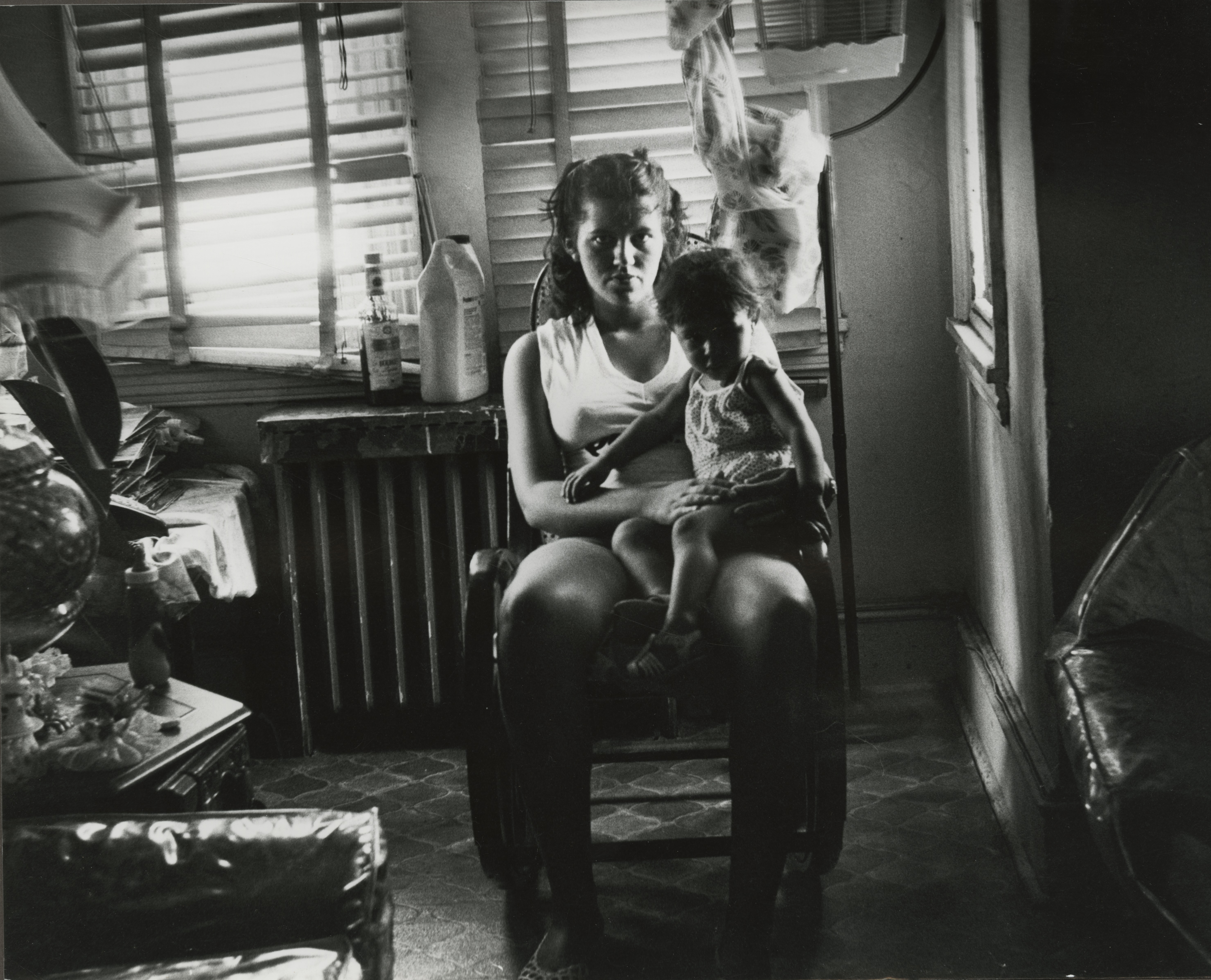 Puerto Rican mother and child suffer economically